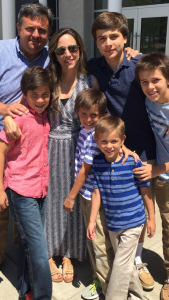 Kelly Goodwin w her husband & 5 boys